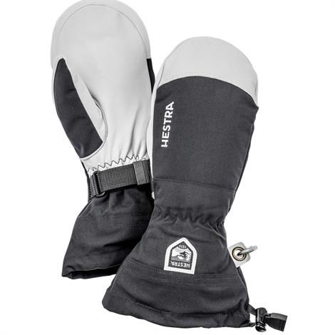 Image of   Hestra Army Leather Heli Ski Mitt, Black