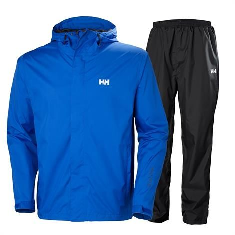 Helly Hansen Mens Portland Rain Set, Olympian Blue thumbnail