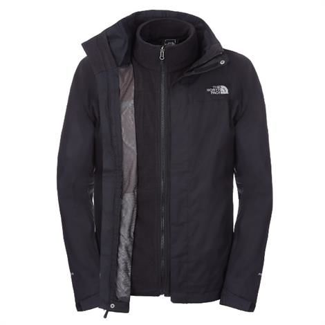The North Face Mens New Evolve II Triclimate Jacket, Black