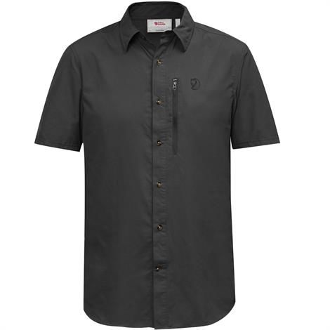 Image of   Fjällräven Abisko Hike Shirt S/S Mens, Dark Grey