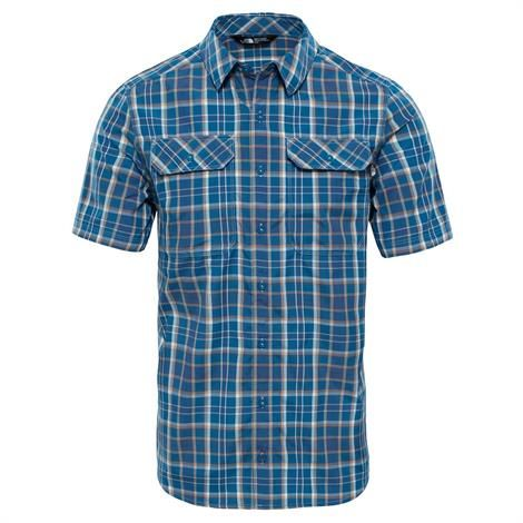 Image of   The North Face Mens S/S Pine Knot Shirt, Shady Blue Plaid
