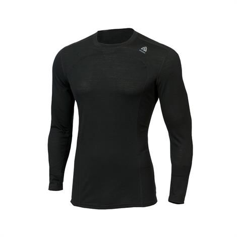 Image of Aklima Lightwool Crew Neck Shirt Man, Jet Black