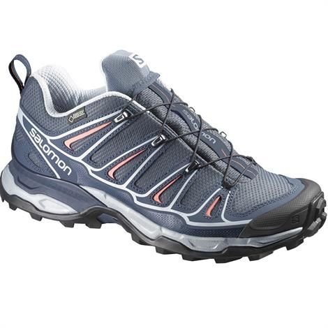 Image of   Salomon X Ultra 2 GTX Womens, Grey Denim / Blue