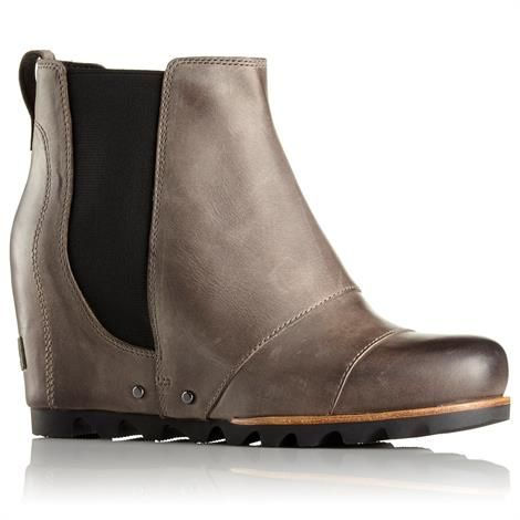Image of   Sorel Lea Wedge Dame, Dark Grey / Black