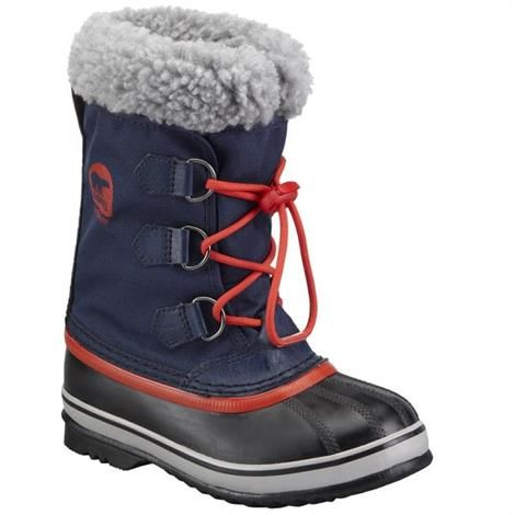 Image of   Sorel Yoot Pac Nylon Børn, Collegiate Navy / Sail Red