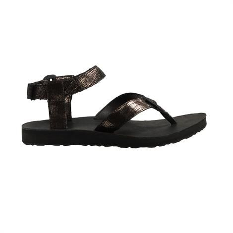 Image of   Teva Original Sandal Leather Metallic Dame, Black