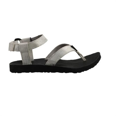 Image of   Teva Original Sandal Leather Metallic Dame, Silver