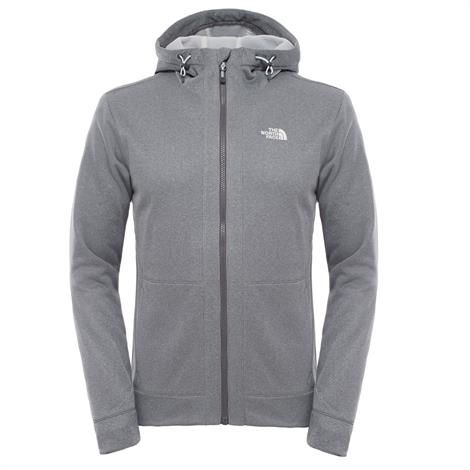 Image of   The North Face Mens Mittellegi Full Zip Hoodie, Grey Heather