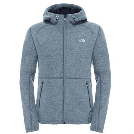 Image of   The North Face Mens Zermatt Full Zip Hoodie, Grey Heather