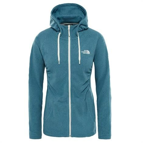 Image of   The North Face Womens Mezzaluna Full Zip Hoodie, Storm Blue