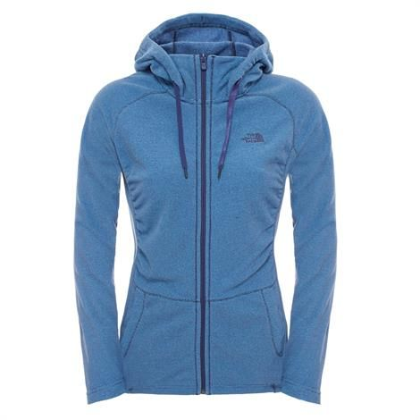 Image of   The North Face Womens Mezzaluna Full Zip Hoodie, Blue