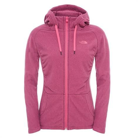 Image of   The North Face Womens Mezzaluna Full Zip Hoodie, Raspberry