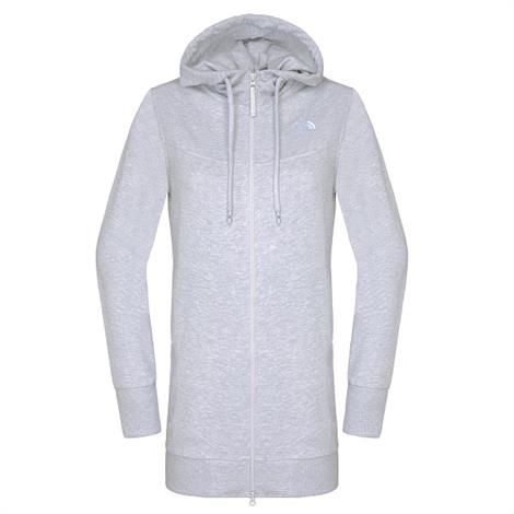 Image of   The North Face Womens Parka Full Zip Hoodie, Heather Grey