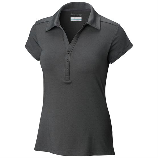 Image of   Columbia Shadow Time Polo Womens, Black / Grill