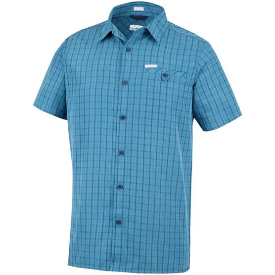 Image of   Columbia Declination Trail II Short Sleeve Shirt Mens, Blue