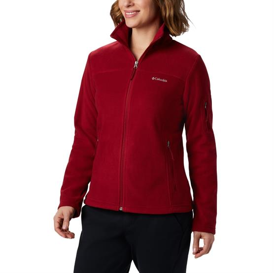 Image of   Columbia Fast Trek II Jacket Womens, Beet / Daredevil