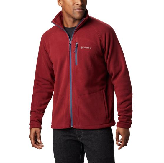 Image of   Columbia Fast Trek Full Zip Fleece Mens, Red Jasper