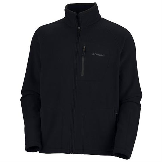 Columbia Mens Fast Trek II Full Zip Fleece, Black