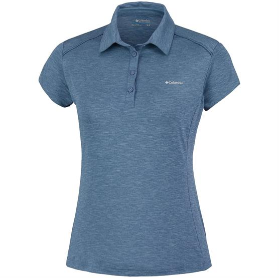Image of   Columbia Firwood Camp Polo Womens, Blue Dusk Heather