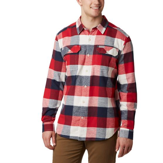 Image of   Columbia Flare Gun Stretch Flannel Mens, Sea Salt Big Check