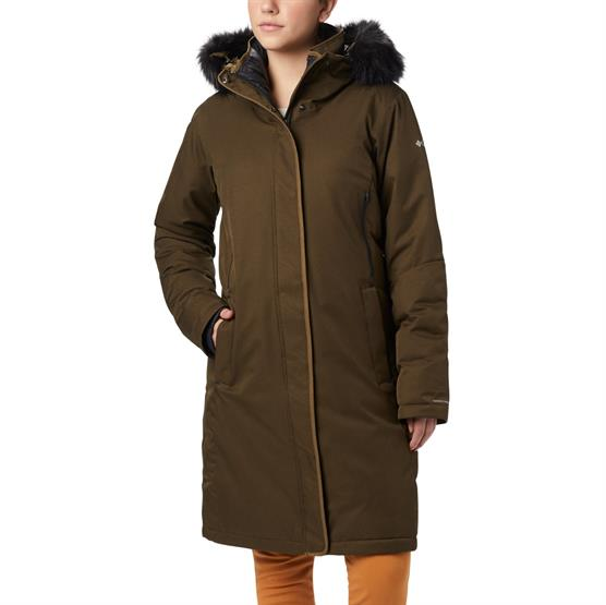 Image of   Columbia Hillsdale Parka Womens, Olive Green Heather
