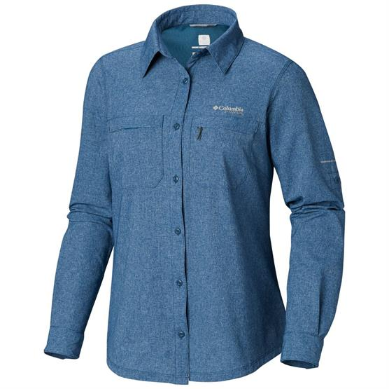 Image of   Columbia Irico Long Sleeve Shirt Womens, Petrol Blue Heather