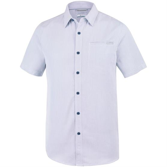 Image of   Columbia Nelson Point Short Sleeve Shirt Mens, Carbon / White