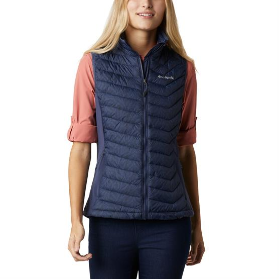 Image of   Columbia Powder Pass Vest Womens, Nocturnal Ferny