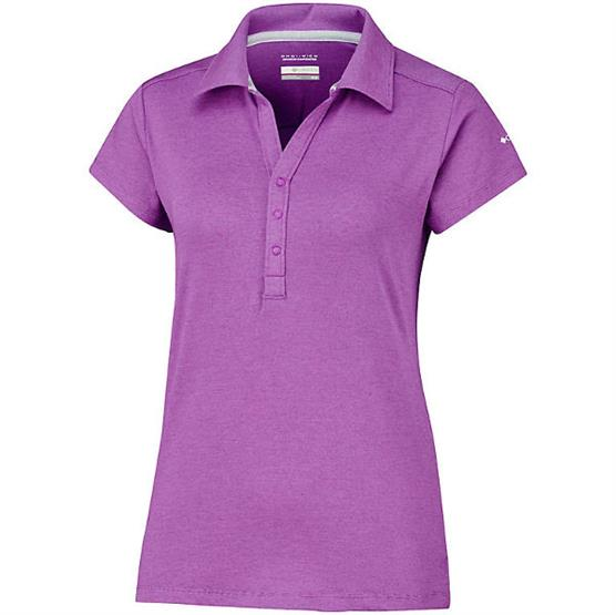 Image of   Columbia Shadow Time Polo Womens, Bright Lavender
