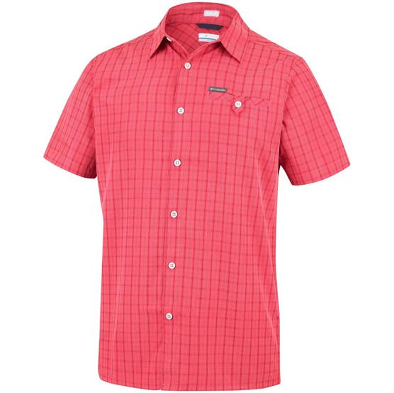 Image of   Columbia Declination Trail II Short Sleeve Shirt Mens, Red