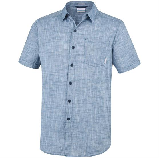 Image of   Columbia Under Exposure YD Short Sleeve Shirt Mens, Petrol