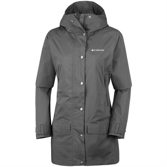 Image of   Columbia Rainy Creek Trench Womens, Black Heather