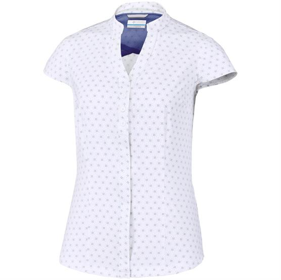 Image of   Columbia Saturday Trail Stretch Print S/S Shirt Womens, Blue