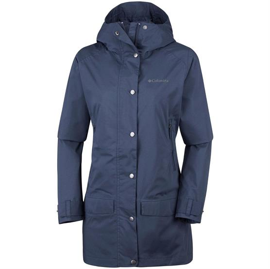 Image of   Columbia Rainy Creek Trench Womens, Nocturnal Heather