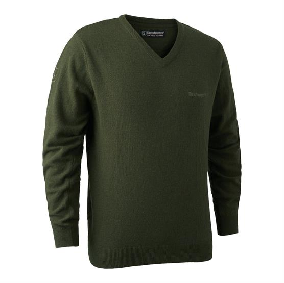 Image of   Deerhunter Brighton Knit V-Neck, Green
