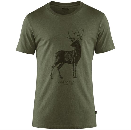 Image of   Fjällräven Deer Print T-Shirt Mens, Tarmac