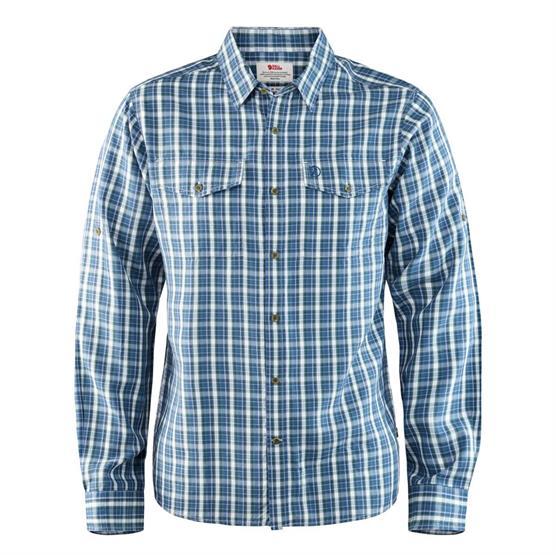 Image of   Fjällräven Abisko Cool Shirt L/S Mens, Uncle Blue