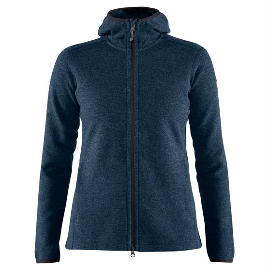 Image of   Fjällräven High Coast Wool Hoodie Womens, Navy