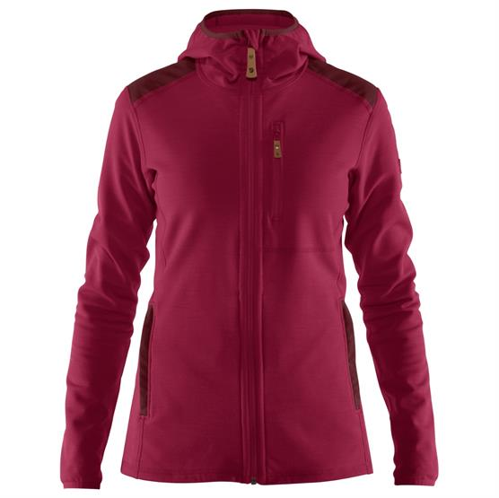 Image of   Fjällräven Keb Fleece Hoodie Womens, Plum / Dark Garnet
