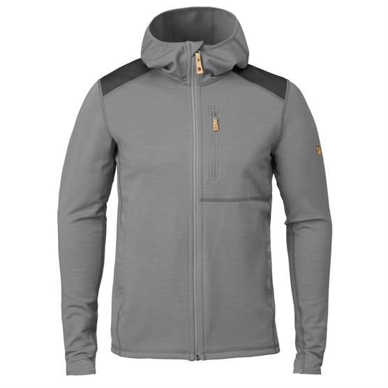 Image of   Fjällräven Keb Fleece Hoodie Mens, Grey / Dark Grey