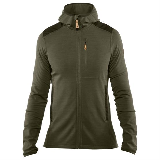 Image of   Fjällräven Keb Fleece Hoodie Mens, Laurel Green / Forest