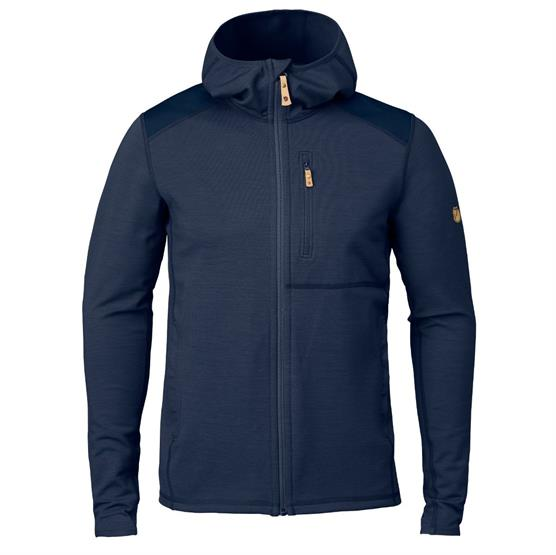Image of   Fjällräven Keb Fleece Hoodie Mens, Storm / Night Sky