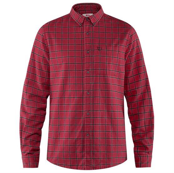Image of   Fjällräven Övik Flannel Shirt Mens, Deep Red