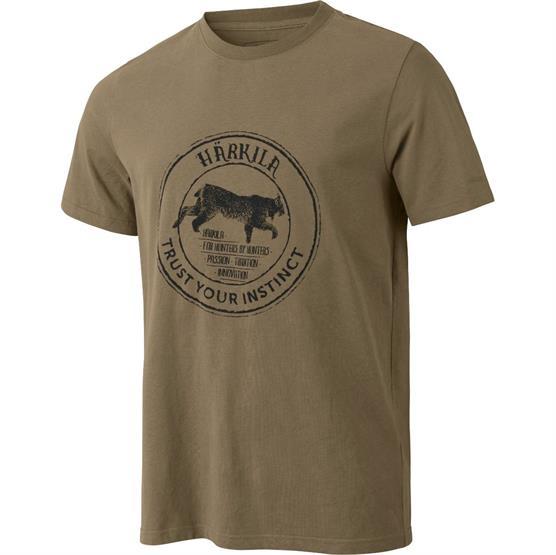 Image of   Härkila Wildlife Lynx S/S T-Shirt, Khaki