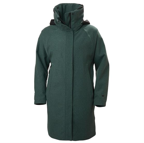 Helly Hansen Womens Beloved Wool Coat, Jade Melange