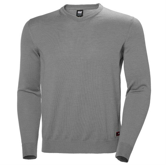 Image of   Helly Hansen Mens Skagen Merino Sweater, Grey Melange