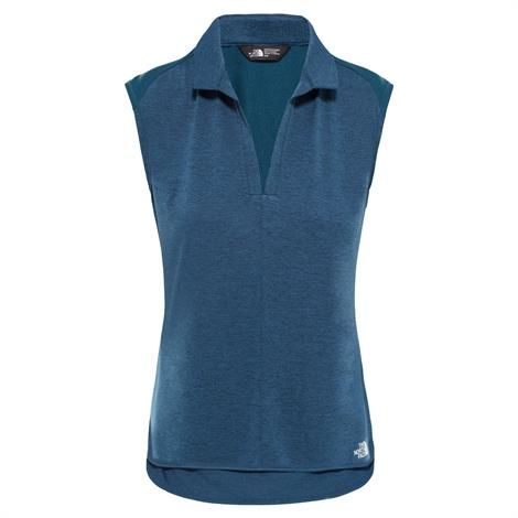 Image of   The North Face Womens Inlux S/L Top, Blue Wing Teal