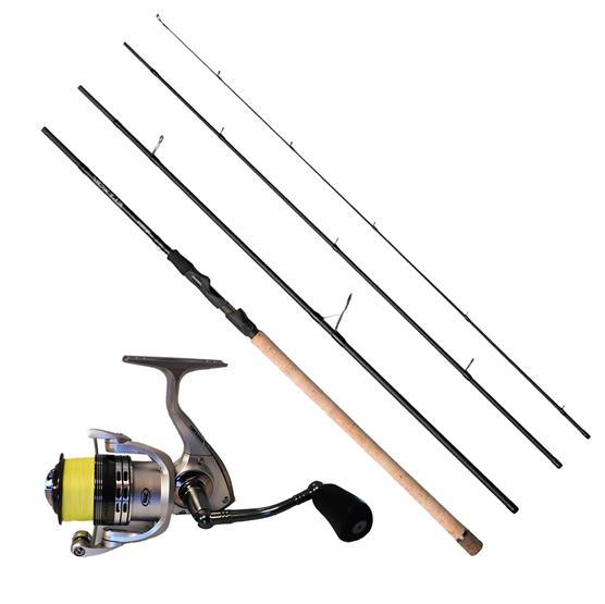 Fiskesæt - Okuma Epixor, 4 Delt og Cobra Hjul Med Fletline