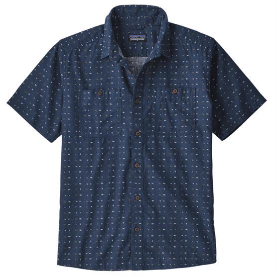 Image of   Patagonia Mens Back Step Shirt, Tiger Micro / Stone Blue