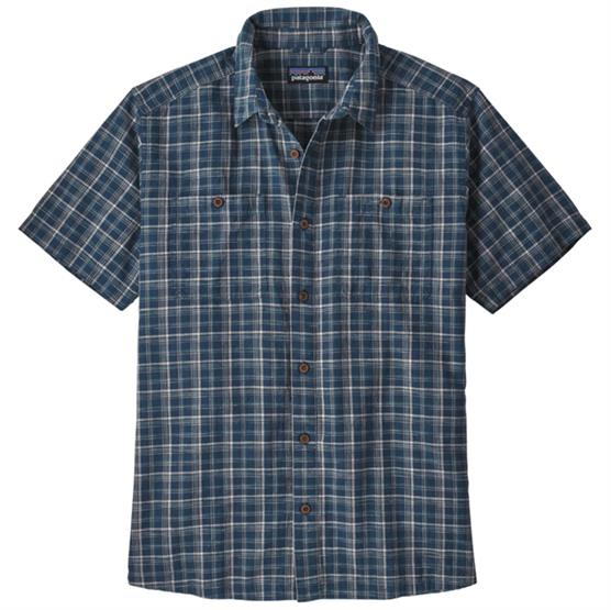 Image of   Patagonia Mens Back Step Shirt, Founder / Blue Stone